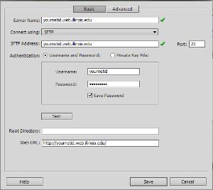 Dreamweaver dialog box