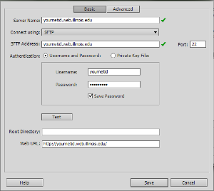 Dreamweaver dialog box